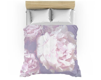 Peony Duvet Cover - Twin, Queen or King sizes - Spring decor