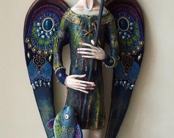 OOAK Art Doll Archangel Raphael