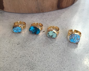 Turquoise rings, Aunt gift, boho jewelry