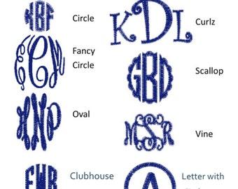 Monogram Font List