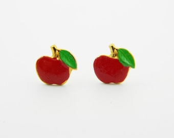 Tiny Apple Studs - OE009