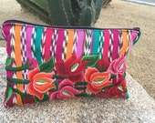 Frida Mexican Style Zippered Huipil Clutch Fair Trade (005F)