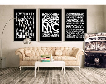 New York subway sign art print or cheap art; custom design your own!