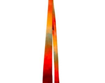 Stunning Painted Abstract Men's Neck Tie