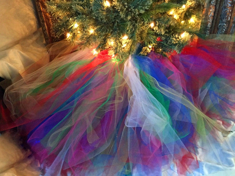 Rainbow Christmas Tree Skirt