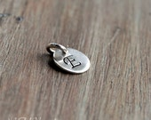 Add A Charm, Hand-Stamped Initial Disc, 5/16 Inch, Sterling silver, Add on Option, Item Upgrade -  Can not be purchased separately-
