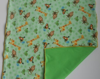 Waterproof Soft Baby Changing Mat-Diaper Changing Mat-Diaper Changing Pad-Waterproof Soft Baby Changing Pad with Animals on Green Backgroumd