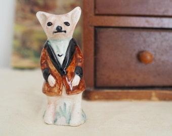 Fox Figurine - Ceramic Fox - Fantastic Mr Fox - Peggy Foy Ceramic