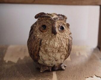 Owl Ornament - Studio Pottery