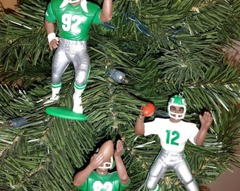 Philadelphia Eagles Donavon McNabb Bobby Hoying  Randall Cunningham or Reggie White or  Mike Quick football  ornaments