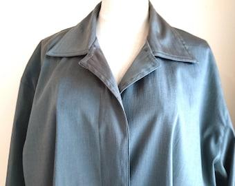 Mela Purdie Coat, 1990s, Size 16 Australia, Iridescent Grey, Lightweight, Great Condition, Womens Clothing