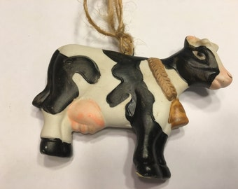 Country Cow ceramic Ornament, 60 x 100 mm (HR1)