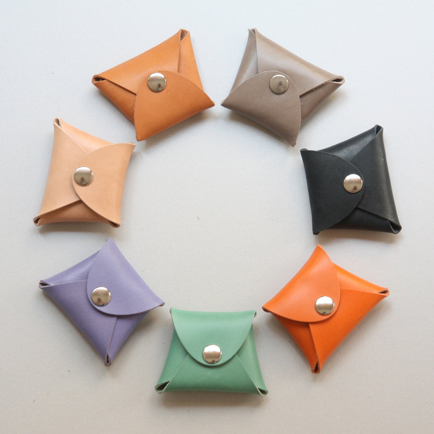 Leather Coin Purse Coin Case Origami Design by KonceptLeather - photo#21