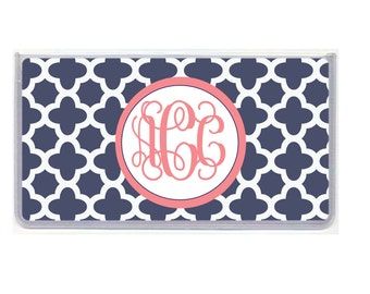 Personalized Checkbook Cover, Design 08
