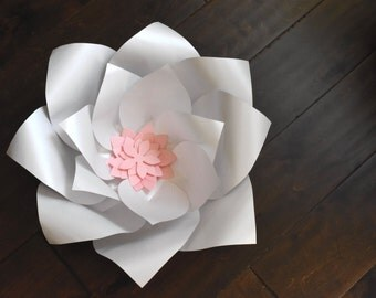 Large white paper flower