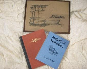 Eric Sloane Hard cover books (set of 2)