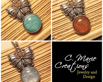 Butterfly Sparkle Necklaces - 3 Colors Available