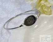 Gorgeous engraved bangle bracelet by ElizaJayCharm
