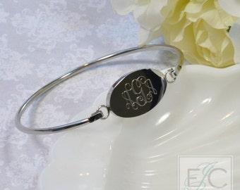 Gorgeous engraved bangle bracelet by ElizaJayCharm