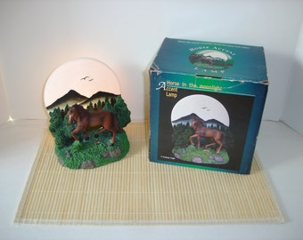 Horse Accent in The Moonlight Lamp Brand New in Box Equestrian Lamp Old Stock Rare ONLY HAVE ONE!!