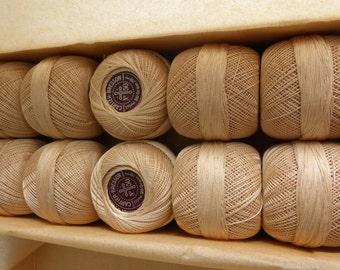 Vintage Cordonnet 6 Fils Ecru Crochet Cotton No. 50 Cartier-Bresson Paris NOS