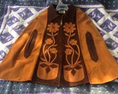 Leather Suede 1970s Cape Poncho - new price wholesale - new price