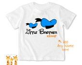 Little brother shirt donaldduck Tshirt - Personalized Little brother Shirt or Bodysuit - 052_BB_2C_donaldduck