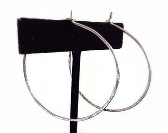 SALE - Silver Hoop Earrings, Dainty Hoop Earrings, Large Hoop Earrings, Minimal Earrings
