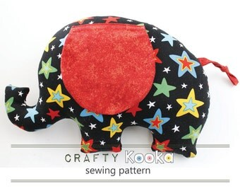 Elephant sewing pattern for beginner sewist