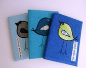 Three Covered Applique Notebooks