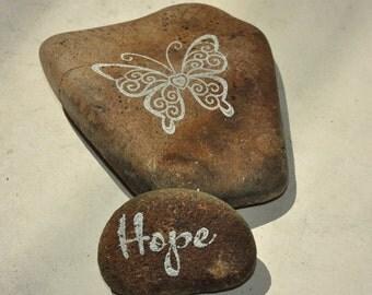 Hope stones - visitation rocks - positive affirmations