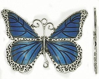 1pc antique silver with Enamel Butterfly Pendant-770R