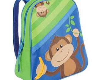 Personalized Stephen Joseph Go Go Monkey Backpack