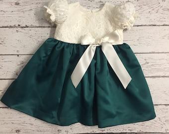 Christmas Lace Top Fall Dress -Holiday Dress