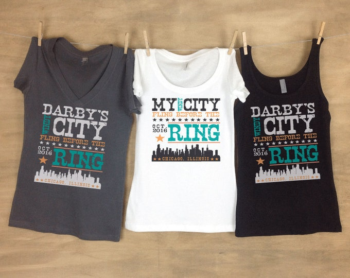 Windy City Fling Chicago Bachelorette Party Tanks or Tees