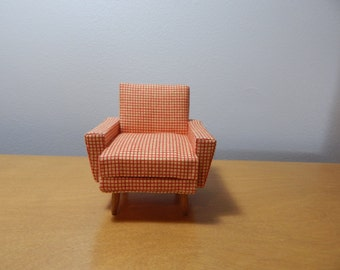 1:12 Scale Miniature Mid-century Modern Chair