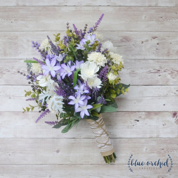 Rustic Wedding Flowers Names : Wildflower bouquet lavender purple fall
