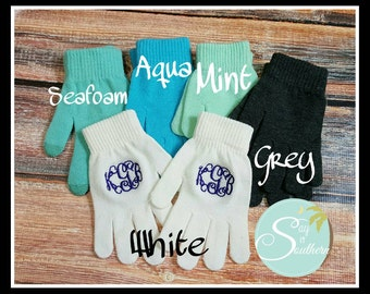 Adult Monogram gloves ... touch screen compatible