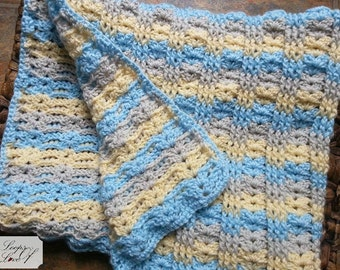 Bailee Blanket Crochet Pattern Baby Blanket Stroller Blanket Throw