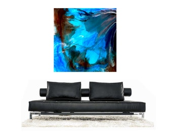 LARGE ABSTRACT PAINTING, Wall Art, Large Abstract Art, Original Modern Art on Canvas Large artwork