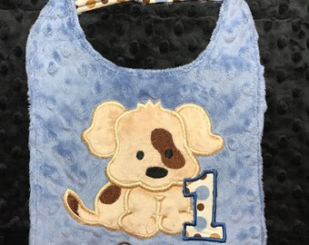 Puppy Birthday Bib