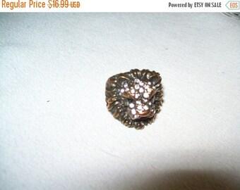 50% OFF Vintage Rhinestone lion ring