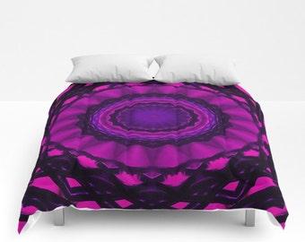 Shades of Pink Kaleidoscope, Comforter, Bedspread, Bedding, Bedroom Decor, Photography, King Bedding, Queen Comforter