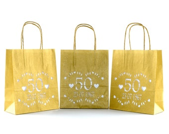 50th Golden Wedding anniversary - personalised table centres