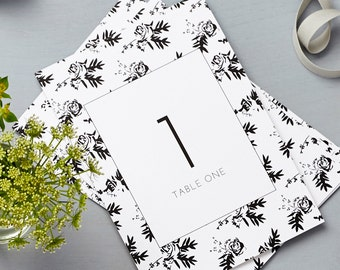 Flower Shadows Table Numbers