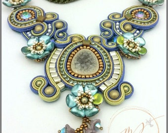 Blue Ivy Soutache necklace