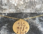 """18"""" gold plated charm necklace"""