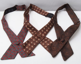 Vintage Crossover ties - lot of 3