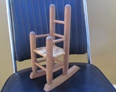 Vintage Wooden Rocking Chair - Small Doll Rocking Chair - Small Wood Rocker