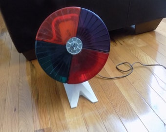 Vintage color wheel light - christmas tree light 1950s tree light - multi colored lamp